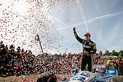 22-24 April, 2016, Birmingham, Alabama USA <br /> 22 Simon Pagenaud celebrates in victory lane<br /> &copy;2016, Sam Cobb<br /> LAT Photo USA