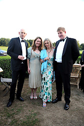 Left to right, DAVID FROST, HARRIET BROWN, CHANTAL REED and MICHAEL COOK at the annual Ham Polo Club Summer Ball held at the club, Petersham Road, Richmond, Surrey on 25th July 2008.<br /> <br /> NON EXCLUSIVE - WORLD RIGHTS