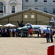 Students and invited guests tour at RAF100 before 11am open to the public at St James Palace, London, UK on July 6th 2018.