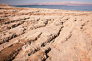 Israel, Dead Sea Salt formation caused by water evaporation