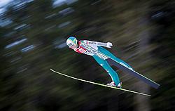 13.12.2013, Nordische Arena, Ramsau, AUT, FIS Nordische Kombination Weltcup, Skisprung, provisorischer Wettkampfdurchgang, im Bild Fabian Riessle (GER) // Fabian Riessle (GER) during Ski Jumping PCR Round of <br /> FIS Nordic Combined World Cup, at the Nordic Arena in Ramsau, Austria on 2013/12/13. EXPA Pictures © 2013, EXPA/ JFK