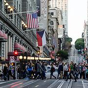 People crossing the street. San Francisco, CA.