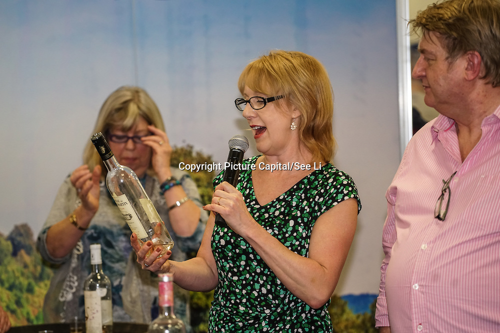 London, UK. 27th January, 2017. Susy Atkins wine tasting at The France Show 2017 at Olympia London chef demonstration. Credit: See Li