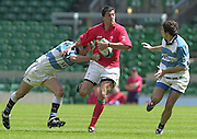 25/05/2002 (Saturday).Sport -Rugby Union - London Sevens.Wales vs Argentina[Mandatory Credit, Peter Spurier/ Intersport Images].