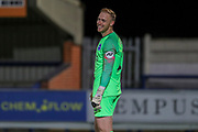 Brighton and Hove Albion goalkeeper Jason Steele (23) laughing during the EFL Trophy (Leasing.com) match between AFC Wimbledon and U23 Brighton and Hove Albion at the Cherry Red Records Stadium, Kingston, England on 3 September 2019.