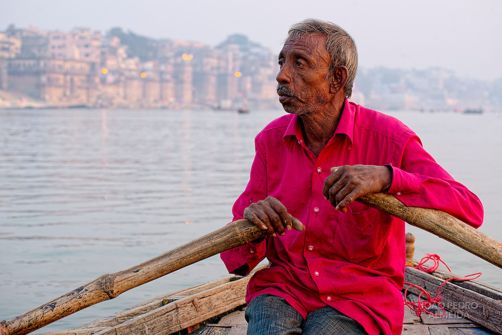 The boatmen that row the boats along the ghats of Varanasi