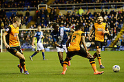 Birmingham City striker Clayton Donaldson plays the ball 1-0 during the Sky Bet Championship match between Birmingham City and Hull City at St Andrews, Birmingham, England on 3 March 2016. Photo by Alan Franklin.