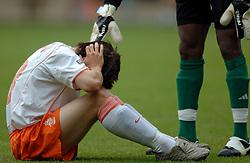 25-06-2005 VOETBAL: WK -20 NEDERLAND-NIGERIA: KERKRADE<br /> <br /> Nederland verliest in de kwartfinale van Nigeria. In de strafschoppenserie werd de 12de strapschop gestopt / <br /> <br /> ©2005-WWW.FOTOHOOGENDOORN