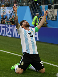 June 26, 2018 - St. Petersburg, Russia - First round, Group D, Third round. Football match of Nigeria - Argentina at the stadium of St. Petersburg. Player of the national team Lionel Messi (Credit Image: © Russian Look via ZUMA Wire)