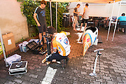 De VeloX2 wordt geprepareerd. HPT Delft en Amsterdam is in Senftenberg voor de recordpogingen op de Dekra baan.<br />