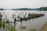 Old boat Pier Sassafras River, Chesapeake Bay, Georgetown, Maryland, United States of America, North America.