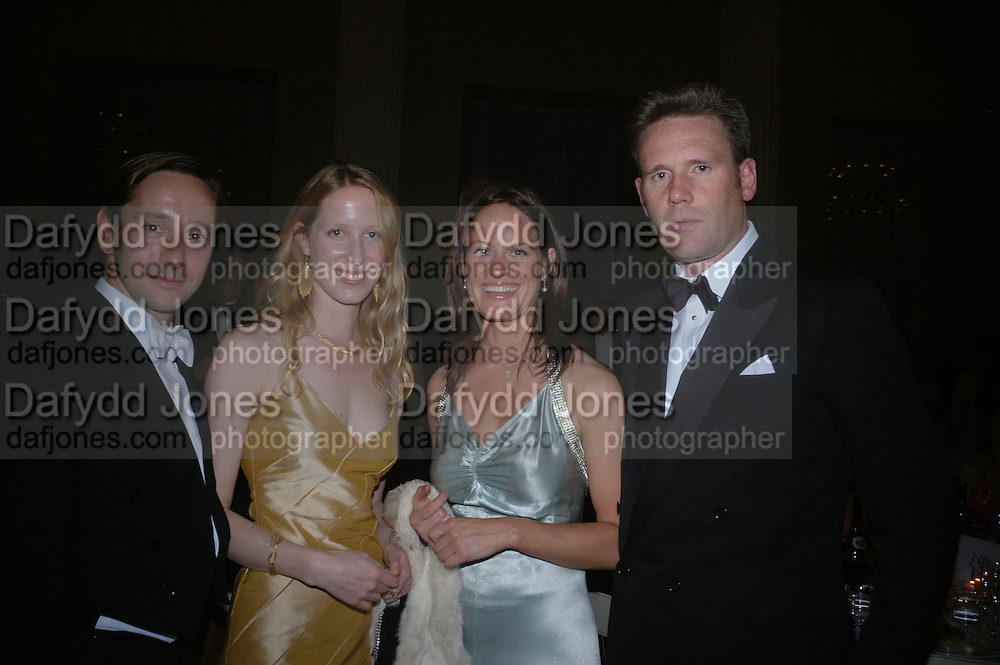 Mr. and Mrs. Alexander Talbot-Rice, Christina Macmillan and Rupert Kenyon-Slaney. Connaught Square Squirrel Hunt Inaugural Hunt Ball. Banqueting House, Whitehall. 8 September 2005. ONE TIME USE ONLY - DO NOT ARCHIVE  © Copyright Photograph by Dafydd Jones 66 Stockwell Park Rd. London SW9 0DA Tel 020 7733 0108 www.dafjones.com