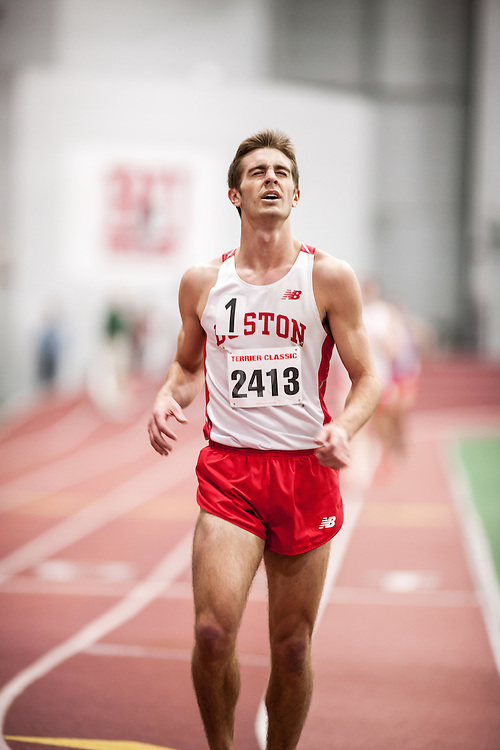 Boston University Multi-team indoor track & field, men 3000 meters, Alec Olson BU