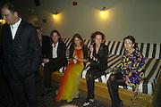 LULU KENNEDY, HARRIET QUICK AND Camille Bidault-Waddington, Frieze Cartier Dinner. Shoreditch House. London. 11 October 2007. -DO NOT ARCHIVE-© Copyright Photograph by Dafydd Jones. 248 Clapham Rd. London SW9 0PZ. Tel 0207 820 0771. www.dafjones.com.
