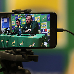 DURBAN, SOUTH AFRICA - AUGUST 14: General views during the South African national rugby team media conference at Garden Court Umhlanga on August 14, 2018 in Durban, South Africa. (Photo by Steve Haag/Gallo Images)