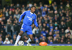 London, England - Tuesday, January 23, 2007: Chelsea's Salomon Kalou against Wycombe Wanderers during the League Cup Semi-Final 2nd Leg match at Stamford Bridge. (Pic by Chris Ratcliffe/Propaganda)