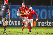 Canadian player Tyler Ardron finds some room to run in the second half during the Rugby World Cup qualifier between Hong Kong and Canada at Stade Delort, Marseilles, France on 23 November 2018. Picture by Ian  Muir.