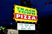 General overall view of Track Town Pizza at 1809 Franklin Blvd. in Eugene, Ore., Tuesday, Sept. 11, 2018. Eugene has been awarded the 2020 U.S. Olympic Team Trials and the 18th IAAF World Championships in Athletics in 2021. (Jeff Parenti/Image of Sport)