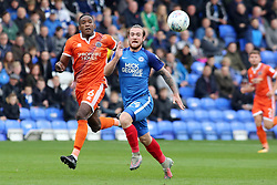 Jack Marriott of Peterborough United in action with Omar Beckles of Shrewsbury Town - Mandatory by-line: Joe Dent/JMP - 28/10/2017 - FOOTBALL - ABAX Stadium - Peterborough, England - Peterborough United v Shrewsbury Town - Sky Bet League One