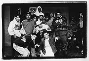 Hip Hop group Beastie Boys with Run DMC, Berlin, Circa 1986