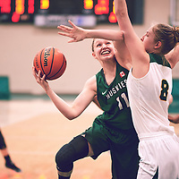 2nd year forward, Macaela Crone (8) of the Regina Cougars during the Women's Basketball Home Game on Fri Feb 01 at Centre for Kinesiology,Health and Sport. Credit: Arthur Ward/Arthur Images