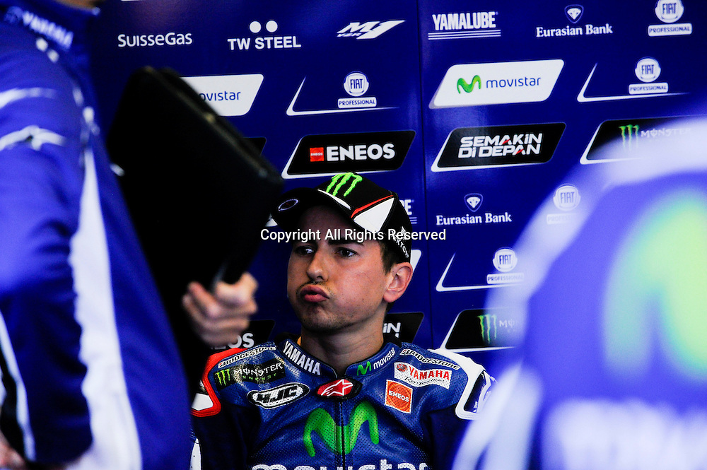 12.09.2014. Misano Adriatico Rimini, Italy. San Marino. MotoGP. San Marino Grand Prix Practice. Jorge Lorenzo (Movistar Yamaha)during the freepractice sessions.