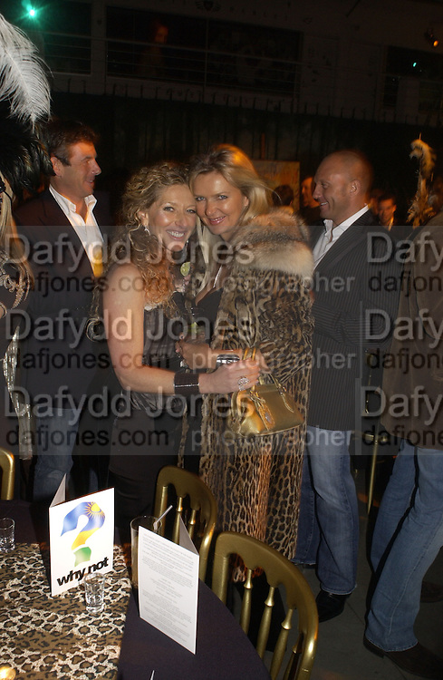 Kelly Hoppen and Amanda Wakeley. Why Not?  in aide of the orphans of the Rwandan genocide. Westbourne Studios. 24 November 2005. ONE TIME USE ONLY - DO NOT ARCHIVE  © Copyright Photograph by Dafydd Jones 66 Stockwell Park Rd. London SW9 0DA Tel 020 7733 0108 www.dafjones.com
