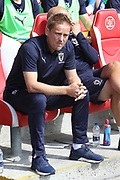 AFC Wimbledon Manager Neal Ardley during the EFL Sky Bet League 1 match between Fleetwood Town and AFC Wimbledon at the Highbury Stadium, Fleetwood, England on 4 August 2018. Picture by Craig Galloway.