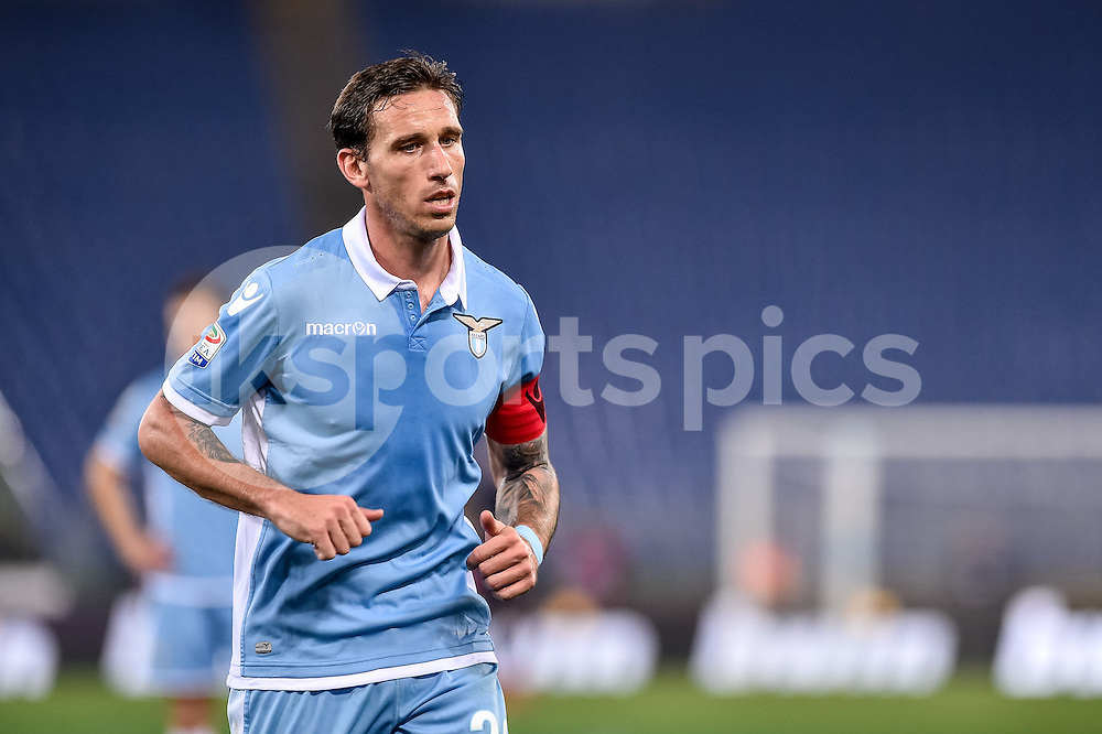 Lucas Biglia of Lazio during the Serie A match between Lazio and AC Milan at Stadio Olimpico, Rome, Italy on 13 February 2017. Photo by Giuseppe Maffia.
