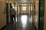 One of the corridors of Beaufort House, a skill development unit for enhanced prisoners. Part of HMP/YOI Portland, a resettlement prison with a capacity for 530 prisoners. Dorset, United Kingdom.