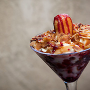 August 18, 2012 - New Rochelle, NY : Posto 22, located at 22 Division Street in New Rochelle, NY, serves gourmet Italian cuisine. Pictured here, the toasted almond mousse. CREDIT: Karsten Moran for The New York Times