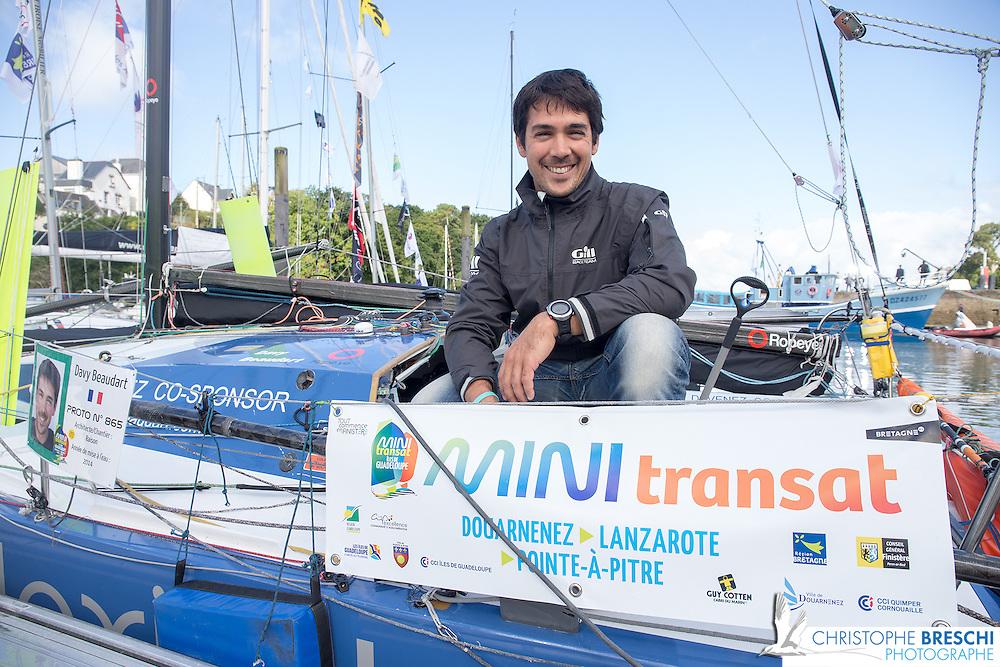 Mini-transat 2015 au départ. Douarnenez - Lanzarote - Pointe à Pître