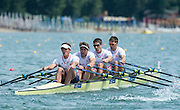 Belgrade, SERBIA, GBR M4X. left to right, Pete LAMBERT, Charles COUSINS, Sam TOWNSEND and Graeme THOMAS,  Heats at the  2014 FISA European Rowing Championships. Lake Sava. <br /> <br /> <br /> 12:15:04  Friday  30/05/2014<br /> <br /> [Mandatory Credit; Peter Spurrier/Intersport-images] 2014 FISA European Rowing Championships. Lake Sava. <br /> <br /> <br /> 12:15:07  Friday  30/05/2014<br /> <br /> [Mandatory Credit; Peter Spurrier/Intersport-images] 2014 FISA European Rowing Championships. Lake Sava. <br /> <br /> <br /> 12:15:08  Friday  30/05/2014<br /> <br /> [Mandatory Credit; Peter Spurrier/Intersport-images] 2014 FISA European Rowing Championships. Lake Sava. <br /> <br /> <br /> 12:15:12  Friday  30/05/2014<br /> <br /> [Mandatory Credit; Peter Spurrier/Intersport-images]