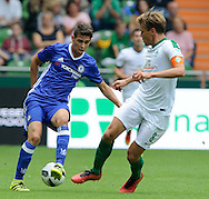Clemens Fritz of SV Werder Bremen and Oscar of Chelsea during the pre season friendly match at Weserstadion, Bremen, Germany.<br /> Picture by EXPA Pictures/Focus Images Ltd 07814482222<br /> 07/08/2016<br /> *** UK & IRELAND ONLY ***<br /> EXPA-EIB-160807-0230.jpg