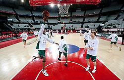 Kenny Gregory (9) of Olimpija during Euroleague Top 16 basketball match between Lottomatica Virtus Roma (ITA) and KK Union Olimpija Ljubljana (SLO) in Group F, on January 20, 2011 in Arena PalaLottomatica, Rome, Italy. (Photo By Vid Ponikvar / Sportida.com)