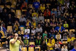 Supporter of RK Celje Pivovarna Lasko during handball match between RK Celje Pivovarna Lasko (SLO) and HBC Nantes (FRA) in Group phase of VELUX EHF Men's Champions League 2018/19, December 2, 2018 in Arena Zlatorog, Celje, Slovenia. Photo by Urban Urbanc / Sportida
