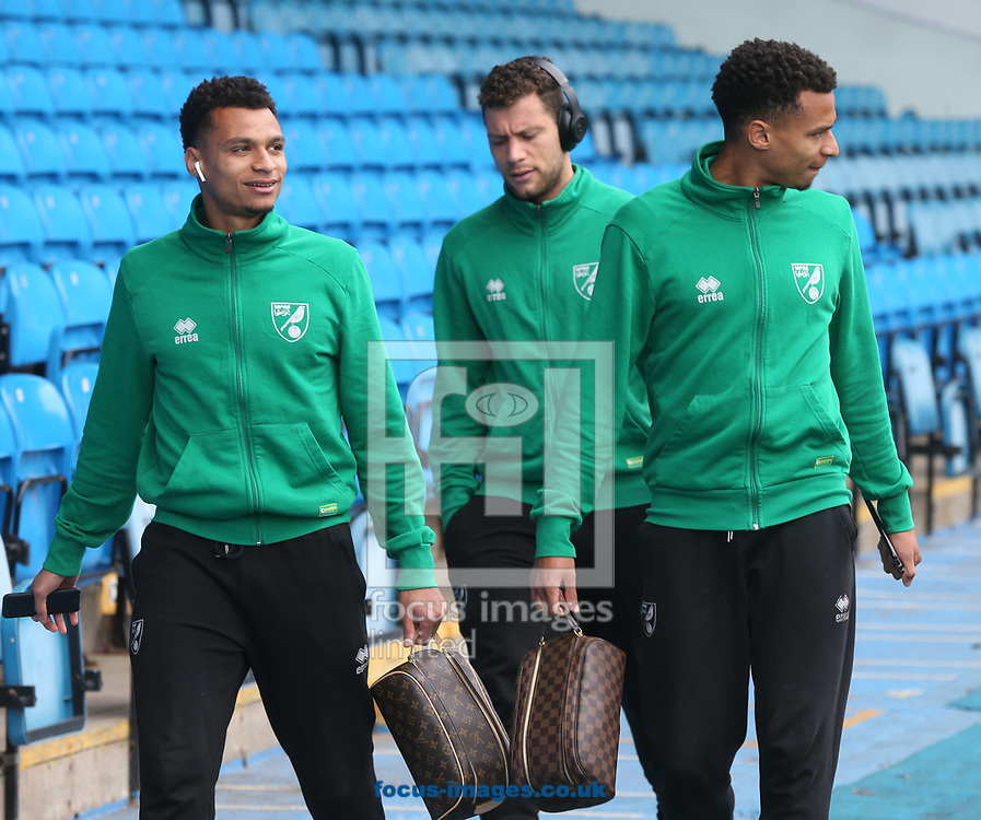 Josh Murphy of Norwich, Jacob Murphy of Norwich and Yanic Wildschut of Norwich before the Sky Bet Championship match at Elland Road, Leeds<br /> Picture by Paul Chesterton/Focus Images Ltd +44 7904 640267<br /> 29/04/2017