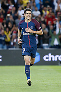 Edinson Roberto Paulo Cavani Gomez (psg) (El Matador) (El Botija) (Florestan) happy during the French championship L1 football match between Paris Saint-Germain (PSG) and Toulouse Football Club, on August 20, 2017, at Parc des Princes, in Paris, France - Photo Stephane Allaman / ProSportsImages / DPPI