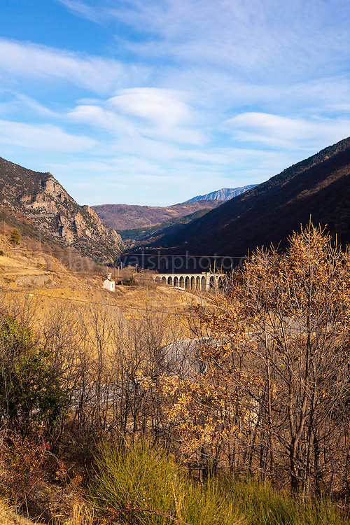 Route Nationale 116 and the Pont Déjourne. The Train Jaune, Yellow Train, Canari, or Ligne de Cerdagne, is a 63km long railway from Villefranche-de-Conflent to Latour-de-Carol, rising from 427m to 1,593m at Bolquère-Eyne, the highest railway station in France. In early 2015 the future of the line was uncertain, with SNCF and the French government considering either to close the line, or to privatise it for tourism use.