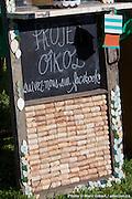 Inauguration du projet écoartistique OÎKOS et de FRIP-BEAUBIEN EST par les Compagnons de Montréal -  Église St-Marc, 2602 Beaubien Est / Montreal / Canada / 2013-06-19, Photo © Marc Gibert / adecom.ca