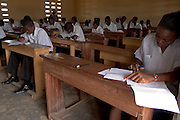 Liberian refugees in classroom at Buduburam refugee camp, 35 km west of Accra, Ghana.