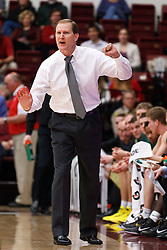 January 27, 2011; Stanford, CA, USA;  Oregon Ducks head coach Dana Altman calls a play on the sidelines against the Stanford Cardinal during the first half at Maples Pavilion.  Oregon defeated Stanford 67-59.