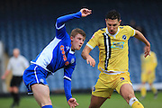 Andy Cannon, Joseph Martin during the Sky Bet League 1 match between Rochdale and Millwall at Spotland, Rochdale, England on 13 February 2016. Photo by Daniel Youngs.