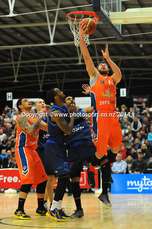 Sharks player Brian Conklin during the Bartercard NBL game Nelson Giants v Southland Sharks at Saxton Stadium, Nelson, New Zealand. Friday 27 June 2014. Photo: Chris Symes/www.photosport.co.nz
