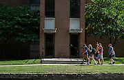 A tour group including members of the Class of 2019 make their way across campus during Bobcat Student Orientation on Thursday, June 4, 2015.  Photo by Ohio University  /  Rob Hardin