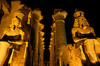 Egypt. Luxor Temple is a large temple complex founded in 1400 BC. Ramesses II statue.