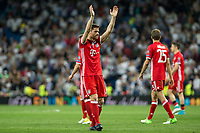 Xabi Alonso of FC Bayern Munchen during the match of Champions League between Real Madrid and FC Bayern Munchen at Santiago Bernabeu Stadium  in Madrid, Spain. April 18, 2017. (ALTERPHOTOS)