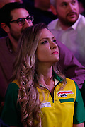Diogo Portela's girlfriend during the Darts World Championship 2018 at Alexandra Palace, London, United Kingdom on 18 December 2018.