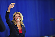 State Sen. Wendy Davis, D-Fort Worth, speaks to supporters at a rally on Thursday, October 3, 2013 in Haltom City, Texas, where she formally declared her candidacy for governor of Texas.