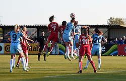 Nikita Parris of Manchester City Women heads the ball clear - Mandatory by-line: Paul Knight/JMP - 09/05/2017 - FOOTBALL - Stoke Gifford Stadium - Bristol, England - Bristol City Women v Manchester City Women - FA Women's Super League Spring Series